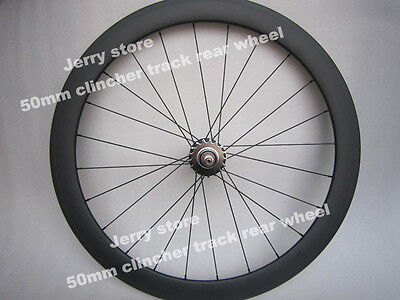 50mm clincher only rear track wheels,700C carbon fixed gear wheels,best (Best Fixed Gear Track Bike)