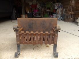 Hand Forged Iron Grate for Inglenook
