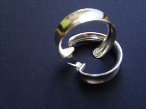 WOMANS STERLING SILVER EARRINGS .925 West Island Greater Montréal image 1