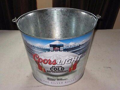 Coors Light 2015 BIG GAME COLD REFRESHMENT Metal Ice Bucket Beer Bottle Holder](Big Ice Bucket)
