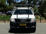 2014 Toyota Hilux TGN16R MY14 Workmate 4x2 White 5 Speed Manual Cab Chassis Cheltenham Charles Sturt Area Preview