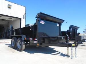 SAVE $300 - 5 TON HYDRAULIC DUMP TRAILER 6X10 BED - SALE PRICED London Ontario image 2