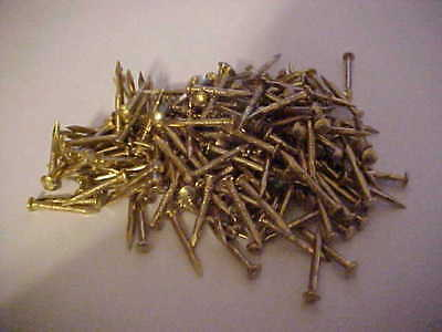 """Qty of 500 5/8"""" Metal  nails gold color  small round head for arts,crafts"""