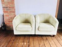 Pair of Green Tub Chairs