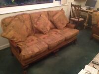 Bergere three piece suite for sale