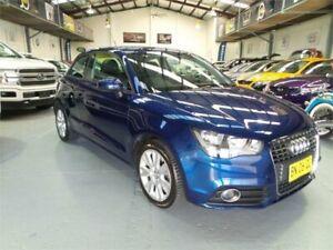 2011 Audi A1 8X MY12 1.4 TFSI Ambition Scuba Blue 7 Speed Auto Direct Shift Hatchback Seven Hills Blacktown Area Preview