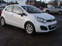 KIA RIO 1 AIR 1.2 5 DR WHITE 22088 MILES £30.00 RD TAX CLICK ONTO VIDEO LINK FOR MORE DETAILS
