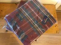 5x Tweedmill throws - brand new, original packaging - pure wool