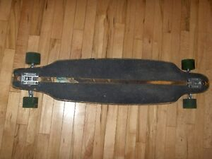 Longboard with Neil Carver Trucks and 9 Ball 481 Wheels