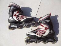 Unisex Fitness K2 Inline Roller skates size UK 11 / EUR 46