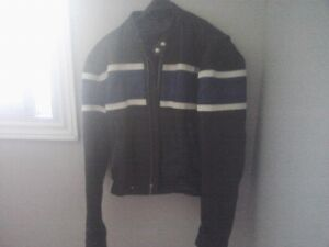 leather jacket -  mens size 42.  heavy black leather