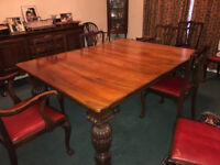 Beautiful honey coloured dining table