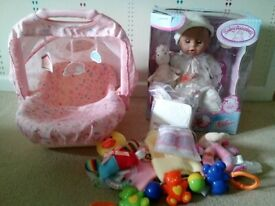 Baby Annabelle version 5 doll carry seat and accessories