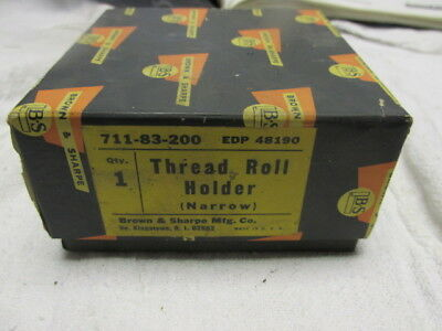 New Brown Sharpe Thread Roll Holder Narrow 711-83-200