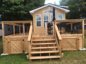 Waterfront 2 Bdrm Cottage Park Model Immaculate Turnkey Package