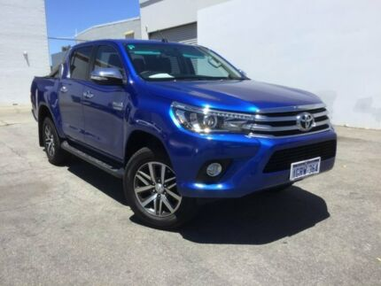 2016 Toyota Hilux GUN126R SR5 Double Cab Blue 6 Speed Sports Automatic Utility Midvale Mundaring Area Preview
