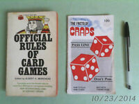 OFFICIAL RULES of CARD GAMES & the FACTS of CRAPS