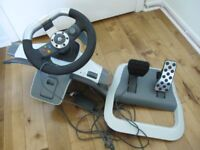 Xbox Steering Wheel & Pedals - ONLY £20