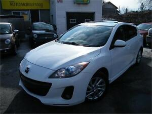 2012 Mazda 3 SPORT, SKY ACTIVE ,CUIR,TOIT OUVRANT