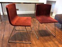 IKEA 2x Burgandy Velvet dining chairs. £70 ONO for the pair.