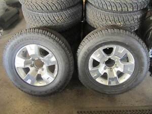 """NISSAN PATROL GU  4 X 17"""" ALLOY WHEELS WITH NEW TYRES (SET OF 4) Brooklyn Brimbank Area Preview"""