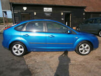 0505 FORD FOCUS 1.6 AUTOMATIC ZETEC CLIMATE 5DR MONACO BLUE MET. 73K FSH SUPERB