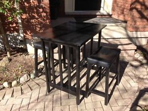 $60  FIRM Black Bistro or High Table with 2 stools