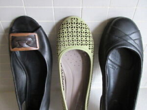 Leather Shoes/Flats, Ladies Size 9.5