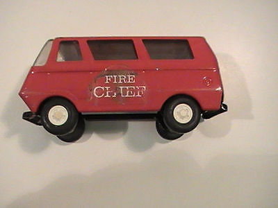 Vintage Tonka Red and White Fire Chief Van Truck