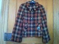 "Ladies ""Next"" tweed syle jacket (41% wool) size 12 in excellent condition"