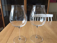 Set of 2 Riedel Vinum XL Pinot Noir glasses - perfect condition