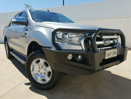 2016 Ford Ranger PX MkII XLT Double Cab Silver 6 Speed Sports Automatic Utility Medindie Walkerville Area Preview
