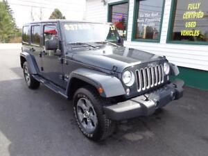 2017 Jeep Wrangler Unlimited Sahara (Premium Grey paint!)