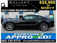 2014 Ford Mustang GT 5.0 $219 bi-weekly APPLY NOW DRIVE NOW