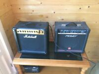 2 Practice Amps for Sale, Marshall and Peavy