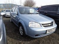 2009 59 reg ghevrolet lacetti sx 1.6 estate mot for 1 year ex we car must be cheap £1195