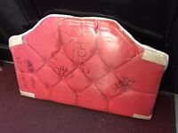 Brand new single head board, bright red faux leather, £20