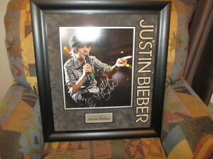 Autographed Justin Bieber Picture