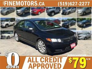 2009 HONDA CIVIC DX-G * LOW KM *  SALE PRICE * CAR LOANS FOR ALL