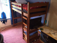 HIGH SLEEPER WOODEN BED