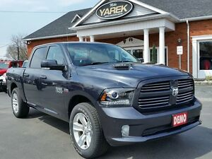 2017 Ram 1500 Sport 4x4, RAMBOX, Heated Seats/Wheel, Sunroof