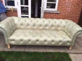 Chesterfield button seat sofa