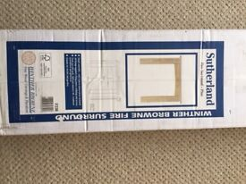 As New, Boxed Unused Solid Pine Fire Surround