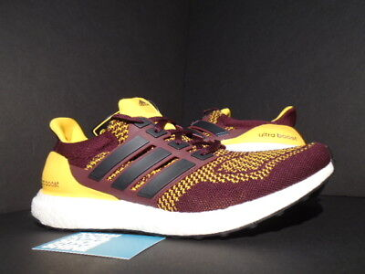 ADIDAS ULTRA BOOST M ARIZONA STATE SUN DEVILS ASU MAROON RED GOLD WHITE AQ7848  for sale  Shipping to India