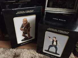LARGE COLLECTION OF STAR WARS FIGURES STATUES MEMORABILIA BY ATTAKUS ARTFX