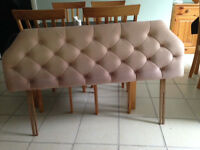 Single and double head boards pink at Skegness
