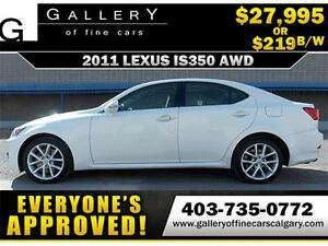 2011 Lexus IS 350 AWD $219 bi-weekly APPLY TODAY DRIVE TODAY