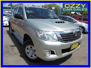 2012 Toyota Hilux KUN26R MY12 SR (4x4) Silver 4 Speed Automatic Dual Cab Pick-up Penrith Penrith Area Preview