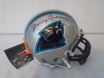 Jerry Richardson Signed Carolina Panthers NFL Riddell Replica Mini Helmet JSA