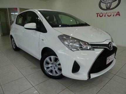 2016 Toyota Yaris NCP130R MY15 Ascent White 4 Speed Automatic Hatchback